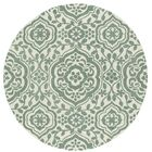 Corine Hand-Tufted  Mint / Ivory Area Rug Rug Size: Round 9'9