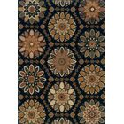 Crownfield Blue/Gold Area Rug Rug Size: Rectangle 5'3