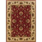 Currahee Red/Ivory Area Rug Rug Size: Rectangle 5'3