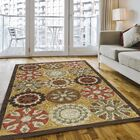 Ophelia Hand-Hooked Gold Area Rug Rug Size: Rectangle 5' x 7'6