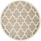 Carman Beige Indoor/Outdoor Area Rug Rug Size: Round 7'