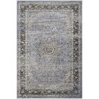 Connors All Over Sarouk Slate Blue Area Rug Rug Size: Rectangle 5'3