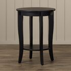 Lucile End Table Table Top Color: Mahogany, Table Base Color: Mahogany