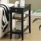 Greenspan End Table With Storage� Color: Black