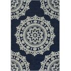 Bickerstaff Dark Blue/Silver Gray Area Rug Rug Size: Rectangle 5'3