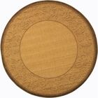 Fenmore Natural/Brown Outdoor Area Rug Rug Size: Round 6'7