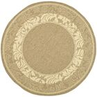 Fenmore Brown/Tan Outdoor Area Rug Rug Size: Round 5'3