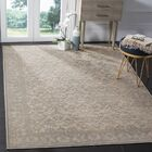 Orville Cream/Blue Area Rug Rug Size: Rectangle 4' x 5'7