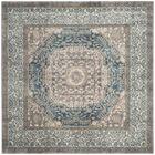 Sofia Light Gray/Blue Area Rug Rug Size: Square 6'7