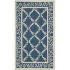 Helena Navy/Cream Area Rug Rug Size: Rectangle 6' x 9'