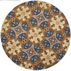 Colesberry Blue/Gold Area Rug Rug Size: Rectangle 8' x 10'