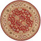 Helena Red/Ivory Area Rug Rug Size: Rectangle 5'3