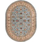 Brew Kettle Traditional Blue Area Rug Rug Size: Oval 5'3