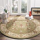 Dunbar Hand-Woven Wool Sage Area Rug Rug Size: Round 6'