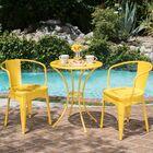 Springmont Outdoor 3 Piece Bistro Set Color: Yellow