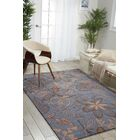 York Hand-Hooked Gray/Blue Area Rug Rug Size: Rectangle 5' x 7'6