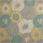 Wright Teal Blue/Yellow Indoor/Outdoor Area Rug Rug Size: Square8'6