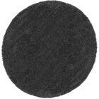 Parrish Dark Gray Area Rug Rug Size: Round 6'7