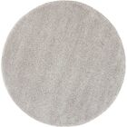 Parrish Gray Area Rug Rug Size: Round 6'7