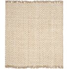 Dombrowski Hand-Woven Bleach/Natural Area Rug Rug Size: Square 6'
