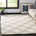 Dirks Hand-Tufted Wool Ivory Area Rug Rug Size: Rectangle 8' x 10'