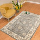 Jansson Oriental Blue/Gray Area Rug Rug Size: Rectangle 5'3