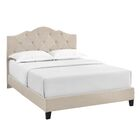 Cassandra Upholstered Panel Bed Size: Full, Color: Slate