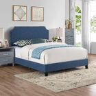 Cassandra Upholstered Panel Bed Color: Blue, Size: Queen