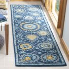 Dipietro Hand-Tufted Wool Blue Area Rug Rug Size: Rectangle 2'3