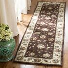 Cloverdale Hand-Hooked Brown/Ivory Area Rug Rug Size: Rectangle 2'3