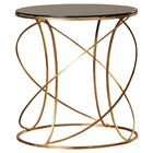 Winsor End Table Color: Gold / Black