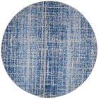 Connie Blue/Silver Area Rug Rug Size: Round 6'