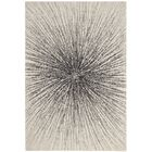 Hannan Black/Ivory Area Rug Rug Size: Rectangle 6'7