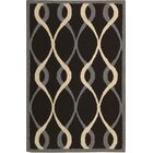 LaGuardia Hand-Tufted Black Area Rug Rug Size: Rectangle 5' x 7'