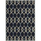 LaGuardia Hand-Tufted Navy Area Rug Rug Size: Rectangle 5' x 7'