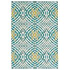 Sutton Place Teal Area Rug Rug Size: Rectangle 5'3