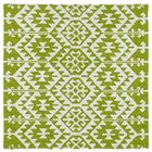Lime Green/Ivory Indoor/Outdoor Area Rug Rug Size: Square 5'9