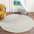 Short Hand-Loomed Silver Area Rug Rug Size: Rectangle 8' x 10'