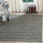 Shevchenko Place Hand-Woven Ivory / Dark Gray Area Rug Rug Size: Rectangle 5' x 7'