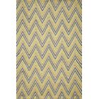 Trent Hand-Hooked Gold Area Rug Rug Size: Rectangle 5' x 7'