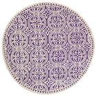 Fairburn Purple   Area Rug Rug Size: Round 8'