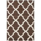 Charlenne Hand-Tufted Wool Dark Brown/Ivory Area Rug Rug Size: Rectangle 4' x 6'