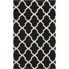 Charlenne Black & Ivory Area Rug Rug Size: Rectangle 5' x 8'