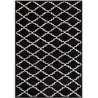 Wilkin Hand-Tufted Wool Black/Ivory Area Rug Rug Size: Rectangle 4' x 6'