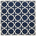 Wilkin Hand-Tufted Wool Dark Blue/Ivory Area Rug Rug Size: Square 8'9
