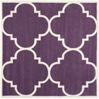 Wilkin Hand-Tufted Purple/Ivory Area Rug Rug Size: Square 8'9