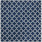 Wilkin Circle Dark Blue & Ivory Area Rug Rug Size: Square 7'