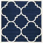Wilkin Hand-Woven Dark Blue Area Rug Rug Size: Square 8'9