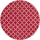 Wilkin Red &  Area Rug Rug Size: Round 7'