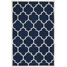Wilkin Hand-Tufted Dark Blue/Ivory Area Rug Rug Size: Rectangle 8'9